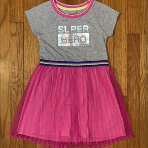 Girls 6/6x Super Hero Short Sleeve Dress